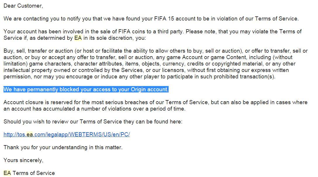 En resumen.. Mi cuenta estaba acusada de vender monedas y había sido bloqueada permanente.