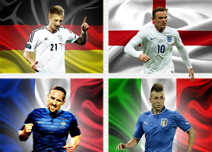 Copa de 4 naciones: Francia, Italia, Inglaterra y Alemania