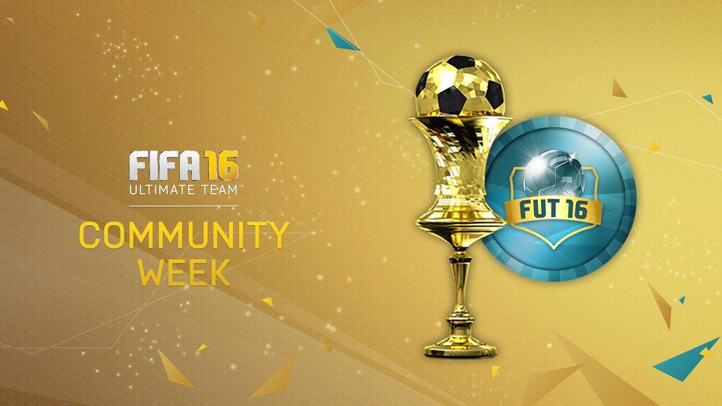 #FUTDraft y torneos diarios! #FUT16 Semana de la Comunidad!