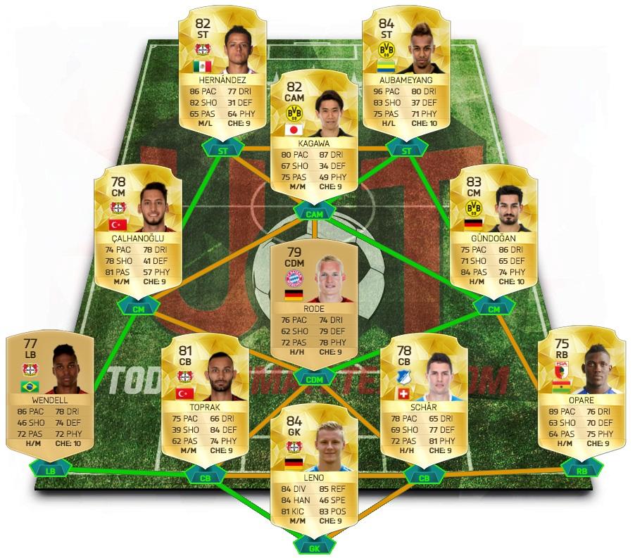 Bundesliga Equipo Torneo 1