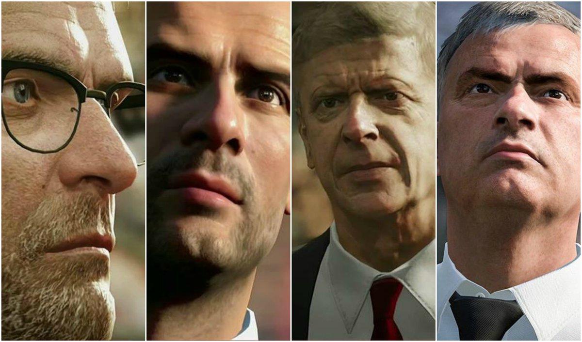 Klopp, Guardiola, Wenger y Mourinho estarán en FIFA17