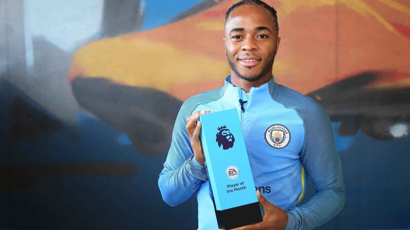 Sterling se quedó con el premio del jugador del mes luego de un gran comienzo en la temporada.
