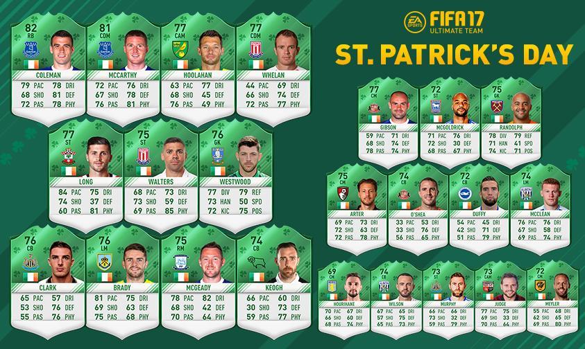 Los jugadores verdes serán necesarios para completar los Desafios de Plantillas de San Patricio!
