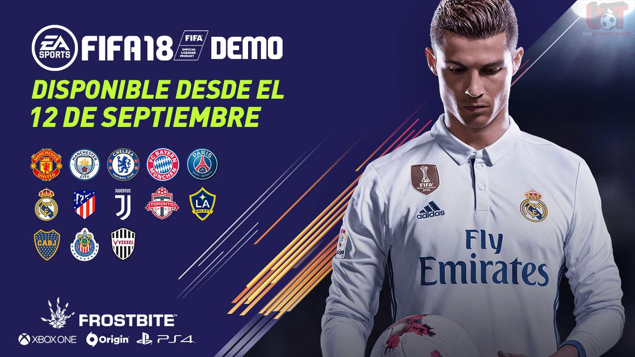 Se confirmó la fecha de salida de la DEMO de FIFA 18 ! También sabemos que equipos incluirá y en que estadios podremos jugar!